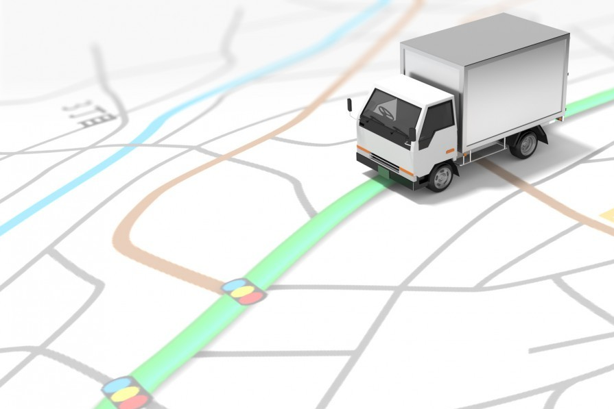 トラックと地図